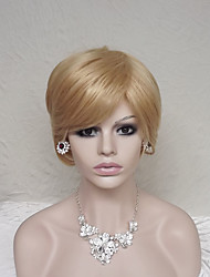 Europe And The United States With  Golden Brown Old Short Wig 4 Inch