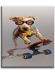100% Handpainted Oil Painting Lovely Dog Living Room Decor Painting Home Decorative Art Picture