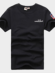 Others Men's Wicking Leisure Sports T-shirt Black / Dark Green