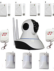 WIFI Burglar Alarm IP Camera House Security System With 4 Wireless Door Magnetic Sensor 3 PIR Motion Detector