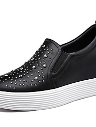 Women's Shoes Synthetic Spring/Fall/Winter Creepers Slip-on Athletic/ Casual Platform Sparkling Glitter Black/White
