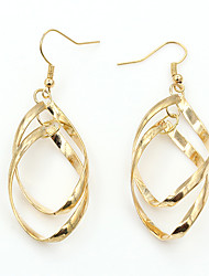 Silver Plated Gold Plated Alloy Fashion Geometric Gold Silver Jewelry Wedding Party Daily Casual 1 pair