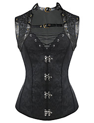 Shaperdiva Women's 10 Steel Boned Gothic Steampunk Corset Tops