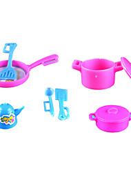 куклы аксессуары, кухонный набор инструментов кухонные принадлежности для приготовления пищи в каждой семье игрушечный кухня девочка семь