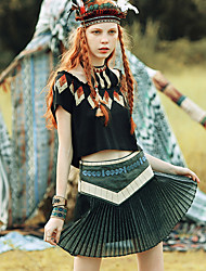 Aporia.As® Women's Knee-length Skirt-MZ02027