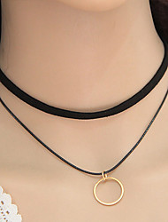 Necklace Choker Necklaces / Layered Necklaces Jewelry Party / Daily / Casual Fashionable Alloy Gold 1pc Gift