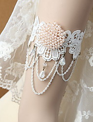 White Lace Flower Arm Cuffs Body Jewelry Bracelet