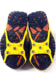 los zapatos antideslizantes de montañismo portátil de 5 dientes crampones simple círculo de hombres y mujeres