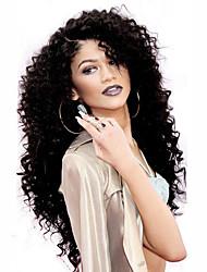 parte dianteira do laço de alta qualidade perucas 150% de densidade de cor natural preto excêntricas resistentes perucas de cabelo