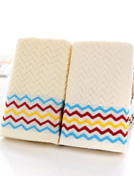 "1 Piece Full Cotton Hand Towel 28""by13"" Curve Pattern MultiColor Super Soft"