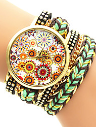 Women's Fashion Watch Bracelet Watch Quartz Casual Watch Fabric Band Multi-Colored