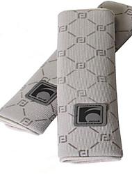 siège de voiture auto couverture de ceinture épaule de siège en peluche pad coussin 2 pcs une paire