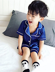 Boy's Cotton Clothing Set,Summer Solid