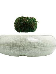 New High-tech Ceramic Maglev Product Air bonsai (no plant)Suspension Flower Pot Pottedplant Levitate Pure Color