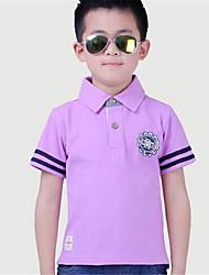 Jungen T-Shirt - Baumwolle einfarbig Sommer