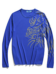 Herren Freizeit T-shirt - Druck Lang Polyester