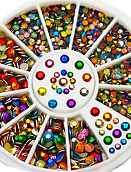 2mm Mix 3mm Octangular Rhinestone Colorful Nail Art Stick Palettee