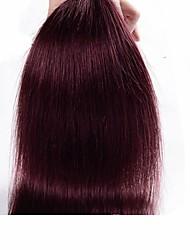 """1шт / много 14 """"-24"""" Цвет перуанский девственные волосы прямые волосы 99j необработанный человеческие волосы ткет"""