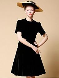 Para My Fair Lady ® Mujer Escote Chino Manga Corta Sobre la Rodilla Vestidos-1501031