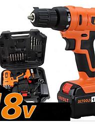 18v charge ménage tournevis électrique, haute puissance, boîte à outils d'emballage (une charge d'une batterie)