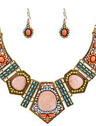 Exaggerate Necklace Earring Jewelry Set