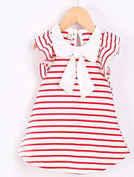 Baby Casual/Daily Striped Dress,Cotton Summer-