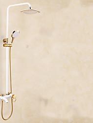 European white golden shower shower set Shower with the lift