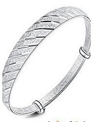 Bracelet Bracelets Rigides Alliage Forme de Cercle / Forme Ronde Mode / Bohemia style Quotidien / Décontracté Bijoux Cadeau Argent,1pc