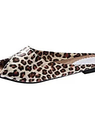Feminino-Chinelos e flip-flops-Peep Toe-Rasteiro-Preto / Amarelo / Branco / Dourado-Couro Ecológico-Casual