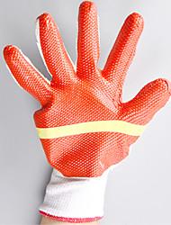 porter des gants en caoutchouc coton doublé de verre revêtement résistant à des gants en caoutchouc durables