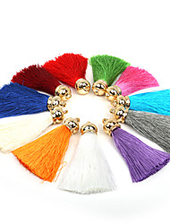 Beadia 2Pcs Fashion Polyester Tassels Pendant For Jewelry Making(13 Colors)