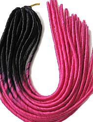 Rose La Havane dreadlocks Extensions de cheveux 20 inch Kanekalon 20 roots Brin 100g gramme Braids Hair