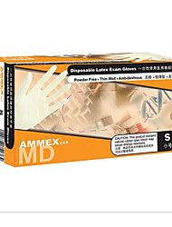 Ammex Disposable Latex Gloves Medical Rubber Examination Gloves Powder-Free Food-Grade Hemp Surface