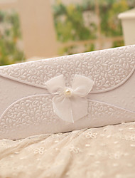 Tri-Fold Wedding Invitations 50-Invitation Cards Classic Style Butterly Style Fairytale Theme Pearl Paper Ribbons