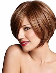 peluca recta sintética de la sacudida de Europa y América del pelo de alta temperatura de la moda de las pelucas de la venta caliente