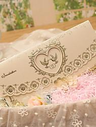 Personnalisé Plis Roulés Invitations de mariage Cartes d'invitation-50 Pièce/Set Style classique / Style cœur / Thème féeriquePapier