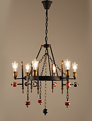 40W Chandelier ,  Traditional/Classic Painting Feature for Mini Style MetalLiving Room / Bedroom / Dining Room / Study Room/Office / Kids