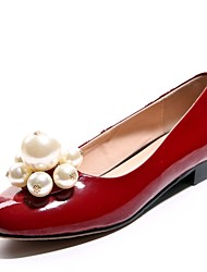 Women's Shoes Leather  / Patent Leather Flat Heel Comfort / Round Toe / Closed Toe / Cap-Toe  / Office &