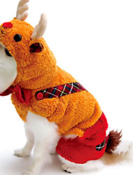 Gatos / Perros Disfraces / Mono Amarillo / Dorado Invierno / Primavera/Otoño Animal Cosplay / Halloween, Dog Clothes / Dog Clothing-Other
