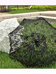 Hochzeit / Strand Spitzen Regenschirm Hakengriff ca.81cm Kunststoff ca.70cm