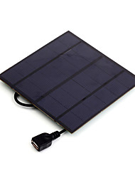 3W 5V USB Output Monocrystalline Silicon Solar Panel Charger for iPhone 6S Samsung HUAWEI (SW3005U)