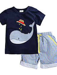 Tee-shirts / Short Boy Motif Animal Eté Coton