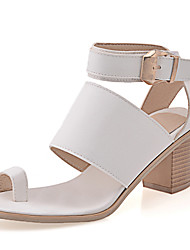 Women's Shoes Chunky Heel Toe Ring Ankle Strap Buckle Magic Tape Sandal More Color Available