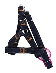 Dog Harness Leash Adjustable/Retractable Solid Red Black Blue Textile
