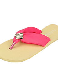 Women's Slippers & Flip-Flops Summer Flip Flops Polyester Casual Wedge Heel Others Blue / Yellow / White / Fuchsia