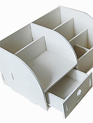 Direct Manufacturers Pvc Creative Carved Dresser Bathroom Cosmetic Storage Box Rack One Generation