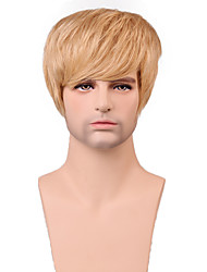 Men's Short Natural Straight Handsome Hair Capless Wig