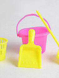 Children Simulation Cleaning Kit Props Series Play House Cleaning Broom Trash 4 Accessories