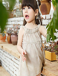 Korean Girls Dress Baby Girls Summer Summer Cotton sleeveless dress skirt leprosy baby skirts