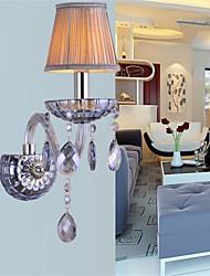 salle de lampe de cristal lampe de mur de fond de lit de style européen